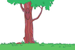 Digital illustration. Magic tree.Vector. Illustration of tree. Background for a game or cartoon Royalty Free Stock Images
