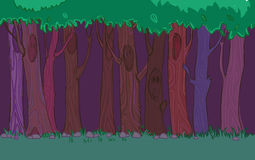 Digital illustration. Magic tree.Vector. Illustration of tree. Background for a game or cartoon Stock Images