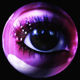 Digital Illustration of a mystic female Eye. Digital 3D Illustration of a mystic female Eye Stock Image