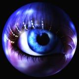 Digital Illustration of a mystic female Eye. Digital 3D Illustration of a mystic female Eye Stock Photos