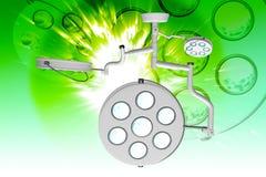 Digital illustration of Operation theatre light Stock Images