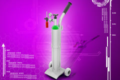 Digital illustration of oxygen cylinder Royalty Free Stock Photo