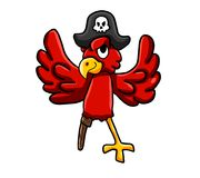 A Red Pirate Parrot royalty free illustration