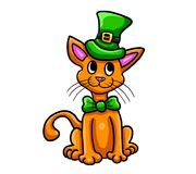 Saint Patrick Cat 1. Digital illustration of Saint Patrick Cat Royalty Free Stock Photos