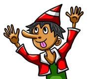 Silly Cartoon Pinocchio. Digital illustration of a silly cartoon Pinocchio Stock Image