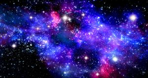 Space nebula royalty free stock photos