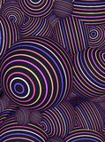 A digital illustration of sphere balls as an optical illusion for background or wallpaper.  Stock Photo