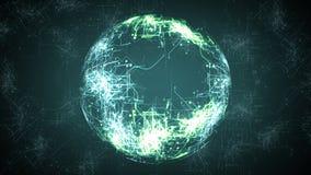 Digital illustration of sphere digital background stock illustration