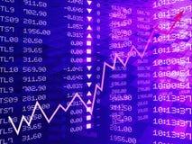 Digital illustration of Stock market graph Royalty Free Stock Photo