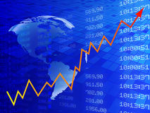 Digital illustration of Stock market graph Stock Photo