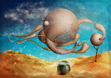 Digital illustration style surrealistic paintings Stock Photography