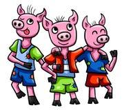 Three Little Pigs. Digital illustration of Three Little Pigs Stock Images