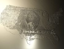 Digital Illustration of an USA Relief. Digital 3D Illustration of an USA Relief Royalty Free Stock Photography