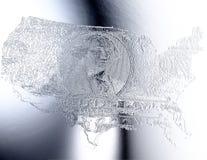 Digital Illustration of an USA Relief. Digital 3D Illustration of an USA Relief Stock Photography