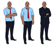 Digital illustration of an african business man. Digital illustrations of an african business man in a suit also in shirt and tie stock illustration