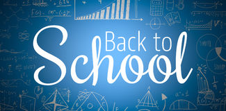 Composite image of digital image of back to school text Stock Image