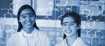 Composite image of digital image of chemical formulas Royalty Free Stock Photography