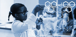 Composite image of digital image of chemical structure Royalty Free Stock Image
