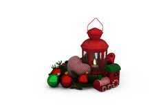 Digital image of Christmas accessories Royalty Free Stock Images
