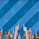 Digital image of people doing thumbs up Royalty Free Stock Photography