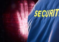 Digital image of security text with binary code Royalty Free Stock Photography