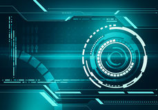 Digital image technology HUD interface concept with circuit micr. Abstract digital image technology interface concept witn circuit microchip background on metal Stock Photography