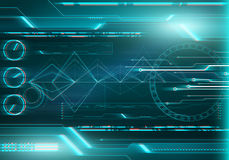 Digital image technology HUD interface concept. 3d stereo effect. Abstract digital image technology interface concept with circuit microchip background. Virtual Royalty Free Stock Photo