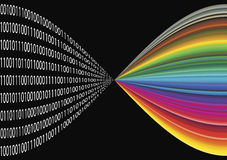 Digital imaging. The binary code stores informations of digital images Stock Photo