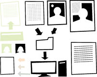 Digital Information Graphic Royalty Free Stock Images