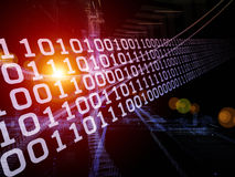 Digital Information Stream Stock Photography