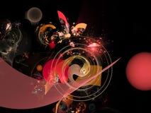 Digital inspirationframtid för abstrakt utsmyckad harmonisk tracery Royaltyfria Bilder