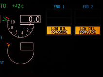 Digital instrument panel Royalty Free Stock Photos