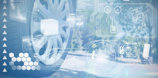 Composite image of digital interface Royalty Free Stock Image