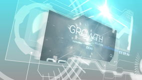 Digital interface with business words Royalty Free Stock Photography