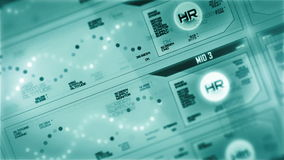 Digital interface screen stock footage