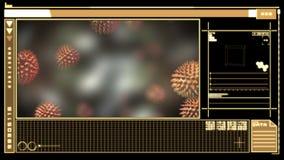 Digital interface showing virus stock video