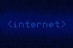Digital Internet Background Stock Photo