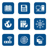 Digital internet icons Royalty Free Stock Photo