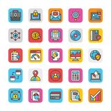 Digital and Internet Marketing Vector Icons Set 5 Stock Images