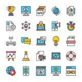 Digital and Internet Marketing Vector Icons Set 2 Stock Image