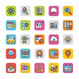 Digital and Internet Marketing Vector Icons Set 3 Stock Photos