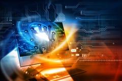 Digital internet technology vector illustration