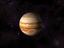 Digital Jupiter. 3D Computer generated planet of Jupiter and space Royalty Free Stock Image