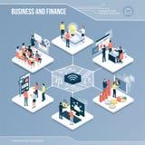Digital kärna: affär och finans stock illustrationer