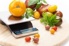 Digital-Küchen-Skala Lizenzfreies Stockfoto