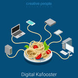 Digital kafooster yellow press mass media fake network vector Royalty Free Stock Photos
