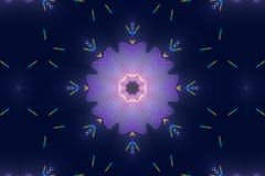 Digital Kaleidoscope with a Spectrum of Colors on Dark Blue. Digital Kaleidoscope with a Spectrum of Colors Illustration vector illustration