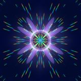 Digital Kaleidoscope with a Spectrum of Colors. Illustration vector illustration