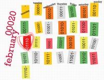 Digital-Kalender Stockbild