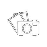 digital kamera för konturtech med uppsättningfotoramar Arkivbilder